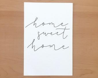 Calligraphed Print