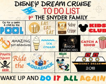 Disney Cruise Magnet Customized Pirate Treasure Map To Do List Door Magnet