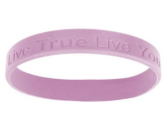 Live True Live You Women's Silicone Wristband