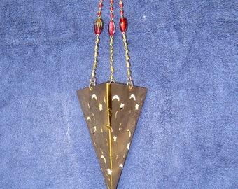 Gold Hanging Candle Holder