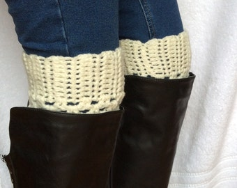 Crochet Boot Cuffs in Cream, On SALE Now, Best Selling