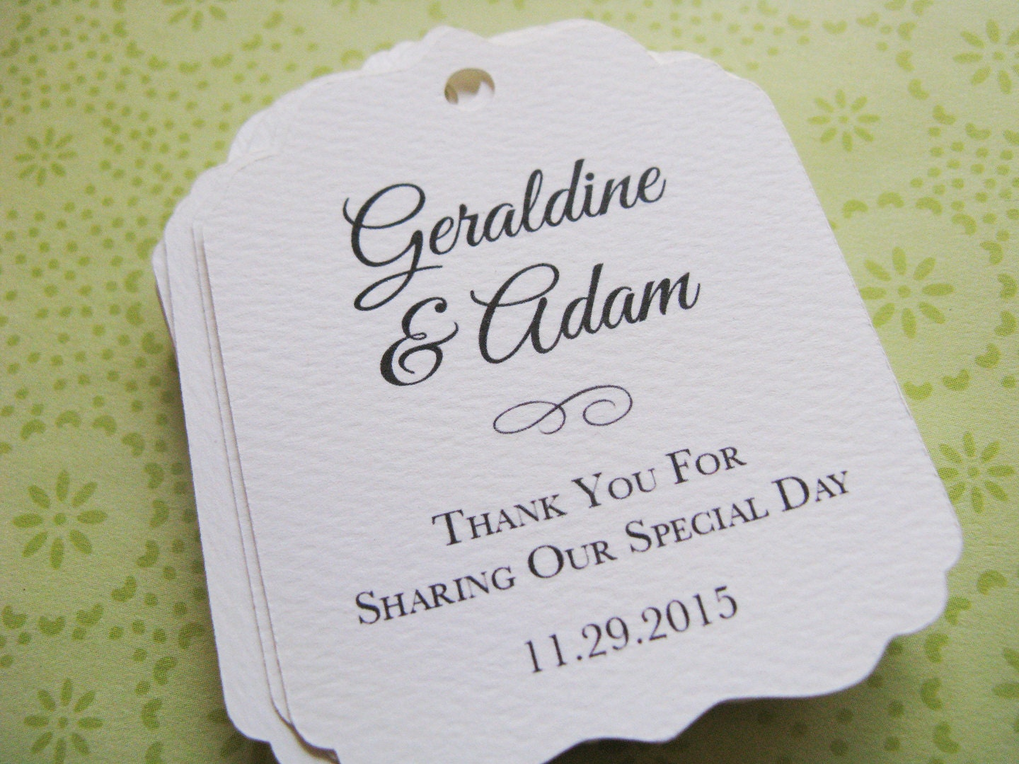 Wedding Favor Tag Personalized Gift Tags Or Shower