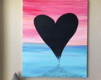 Original Acrylic on Canvas Painting- Hourglass
