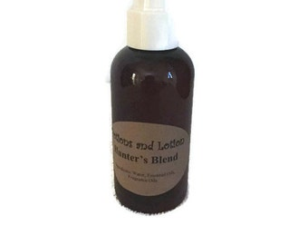 Hunters Blend-Cover Spray-All Natural-Dirt-Essential Oils-Organic-Handmade-Deer Hunters-Environmentally Safe-PotionsandLotion