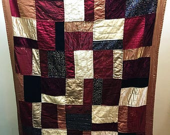 Colorful STRIP Vintage Quilt--- --Christmas Holiday Quilt -- All Hand Quilted vintage quilt--Handmade, Vintage Quilt