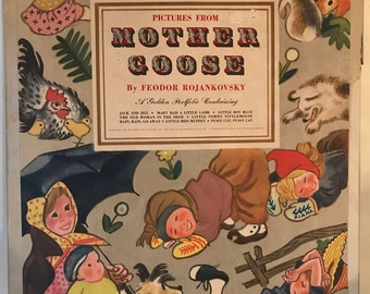 Pictures From Mother Goose: 1945 Portfolio of 8 Large Lithographed Prints by Feodor Rojankovsky