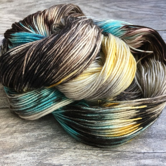 Things I loved - Banded Agate - Hand Dyed Variegated Yarn by WIP Yarns