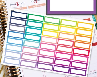 Blank Quarter Boxes Planner Stickers Erin Condren Life Planner (ECLP) - 40 Appointment Stickers (#6045)
