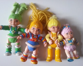 Vintage, Rainbow Brite, 80s , 1980s, Hallmark , toys, poseable, app 10cm, choose style, figures, plastic, by NewellsJewels on etsy