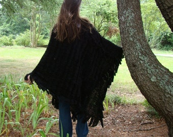 The Morticia Poncho