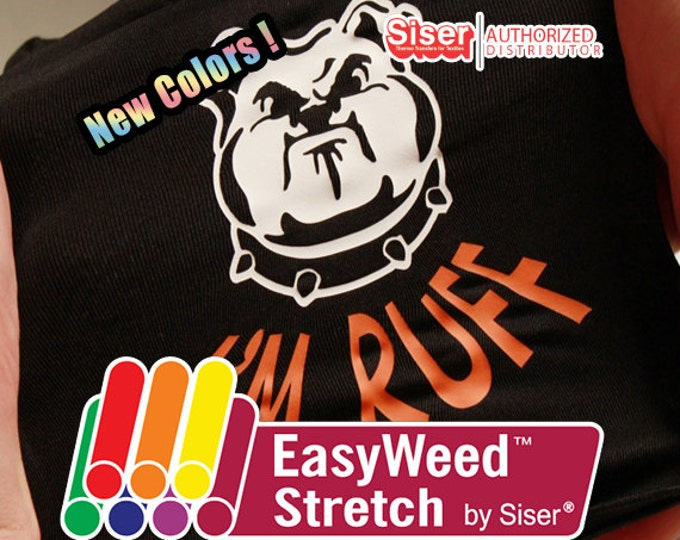"12""x15"" / 10-Sheets / Siser EasyWeed STRETCH - Heat Transfer Vinyl - HTV"