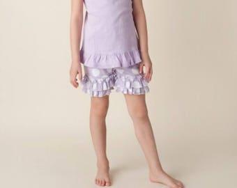 Ruffle polkadot lilac shorts