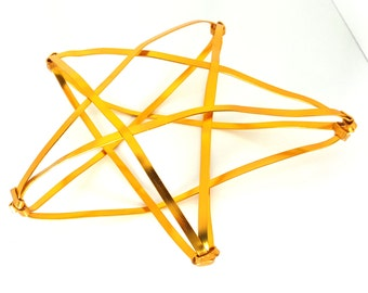 Medium Large Gold Star Tree Topper -  metal tree star handmade tree topper - medium / big - golden 1220B