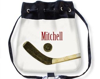 Ice Hockey Cinch Bag-Personalized Bag-Hockey Backpack-Cinch Sack Backpack-Drawstring Bag-Ice Hockey Bag-Hockey Crossbody Bag-Messenger Bag