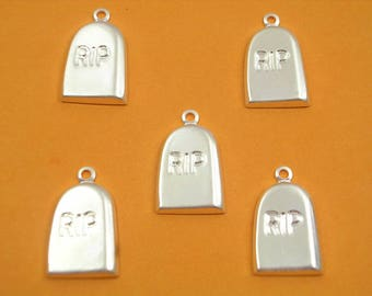 LOT 5 METALS CHARMS Silver: Terminal 14 mm