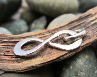 Sterling Silver Infinity Pendant - Hammered