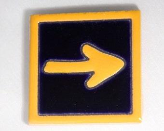 Camino de Santiago Arrow Road Marker Pilgrim Tile Fridge Magnet