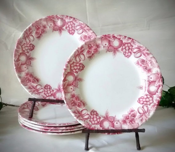 & Vintage Libbey Tableware 6 White Salad or Dessert Plates with