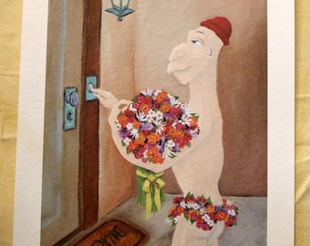 Special Delivery is a romantic print of my original oil painting
