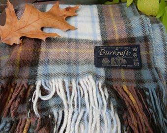 Burkraft Wool Blue/Beige/Brown Stadium Blanket
