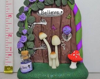 Rose and Toadstools Fairy Door
