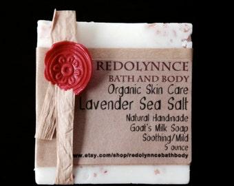 Sea Salt Lavender-Organic Handmade Soap Bar Made with Essential Oils.Cruelty free, gmo free,