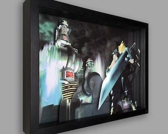Final Fantasy 7 Shadowbox Art