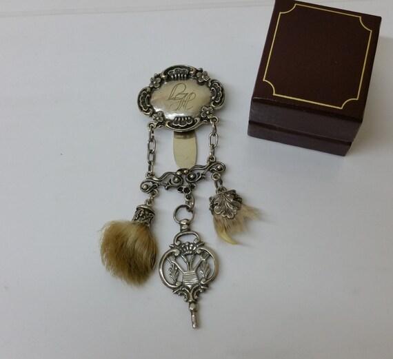 Antique costume jewelry pendant