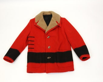 Vintage Hudson's Bay Blanket Wool Marlboro Coat