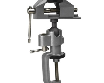 "3"" Jaws Tabletop Swivel Base Vise Jewelers Hobby Bench Vice Tool 360 Degree Tilts Rotates"