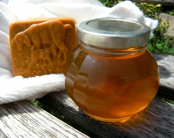 Natural Sweetener, Raw Natural Honey Jar, Gift Wrapped