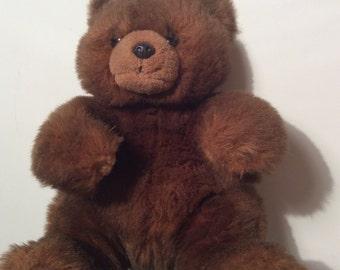 Ty Classic Brown Bear McGee Vintage Plush Teddy Bear 1990