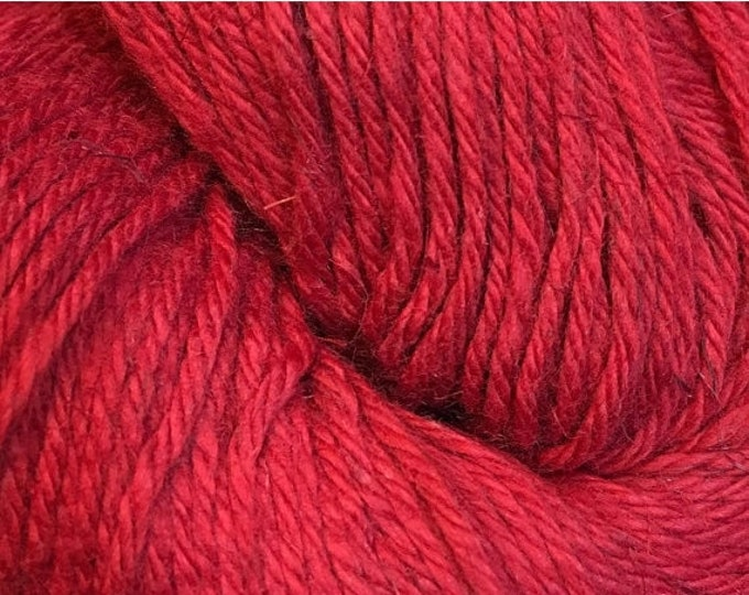 Featured listing image: ON SALE Red Cascade Hampton Pima Cotton and Linen DK Weight Yarn 273 yards color 06