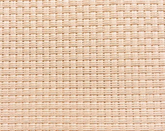 AIDA 6 Count Fabric. Ivory Cross stitch fabric. Permin embroidery cotton. Made in Copenhagen. Per 10 cm of 130 cm wide