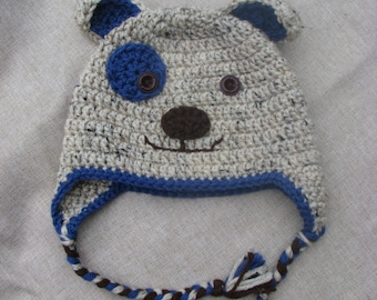 Baby puppy hat/ gift for baby/ Blue Puppy Hat