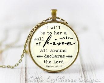 Large Scripture Pendant Scripture Necklace Christian Jewelry Inspirational Gift Large Pendant Neckace