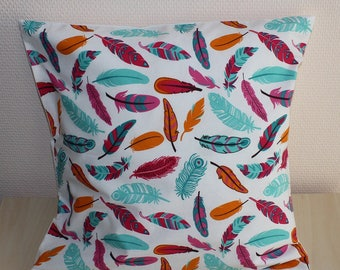 Cover of Pillow - feathers - multicolored - 40 x 40 cm