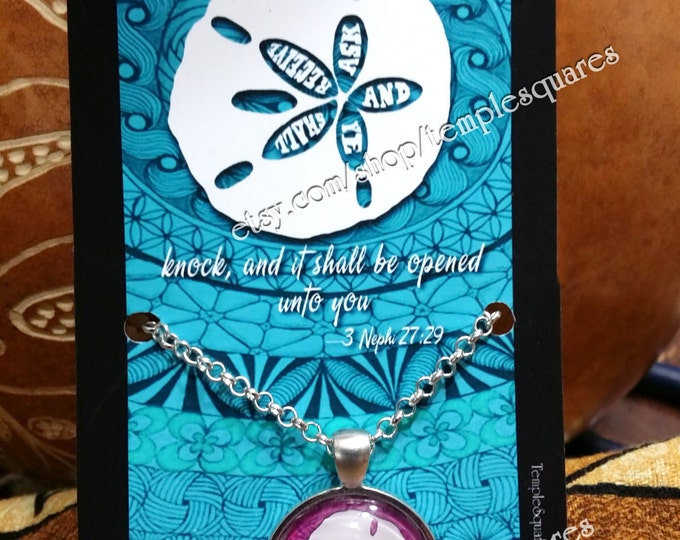 "Beautiful ""Ask and Ye Shall Receive"" LDS Pendant Necklaces Polynesian Style Sand Dollar. Only 6 Dollars Each!"