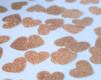 Rose Gold Confetti, Engagement Party Decorations, Rose Gold Party Decorations, Baby Shower Decorations, Bridal Shower Decorations, Rose Gold