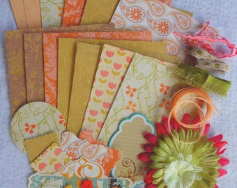 Kit scrapbooking Boho Chic, card making, art journal, penpals, snailmail, gifts
