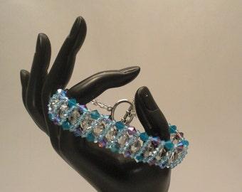 B100 Woven Swarovski crystal bracelet