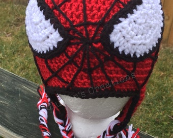 Spider Man Hat Crochet Pattern With Web Stitching Guide!