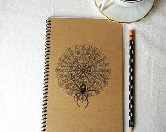 Spider Crocheting Doily Notebook