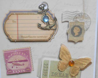 Plate 10 3D messages cardmaking, scrapbooking, new and vintage travel stickers