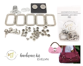 Evelyn - Chris W Designs - Hardware Kit - Sew cc bag hardware