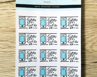 Turn Off, Tune In | Hand Drawn Planner Stickers (G011)