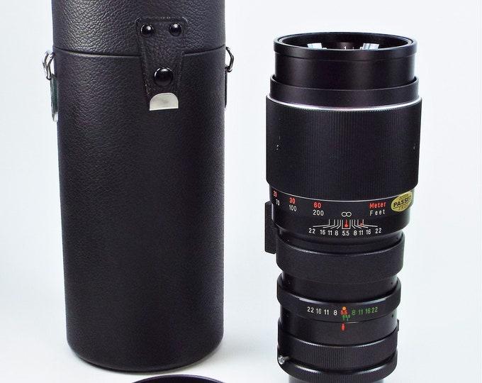 Vintage Vivitar Canon FD Mount 300mm f5.5 Telephoto Lens w/ Case - Mint Condition - Manual Focus Lens Adaptable for Digital Use - Super Nice
