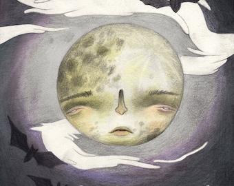 Halloween Series Art Print: Full Moon