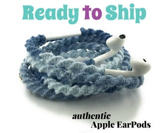 Wrapped Headphones for iPhone, Handmade iPhone Headphones, Custom Headphones, iPhone EarPods Tangle Free Earbuds WICKED COOL