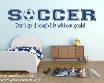 Soccer Decal - Soccer Wall Decal Sports Vinyl Wall Decal Soccer Quote B20 Boys Room Teen Boy Room Decor Wall Art Soccer Decor